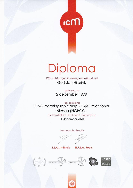 ICM coachopleiding diploma